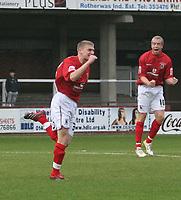 Photo: Mark Stephenson/Sportsbeat Images.<br /> Hereford United v Darlington. Coca Cola League 2. 03/11/2007.Dalington's Joe Colbeck (L) celebrates his goal<br /> for 1-1
