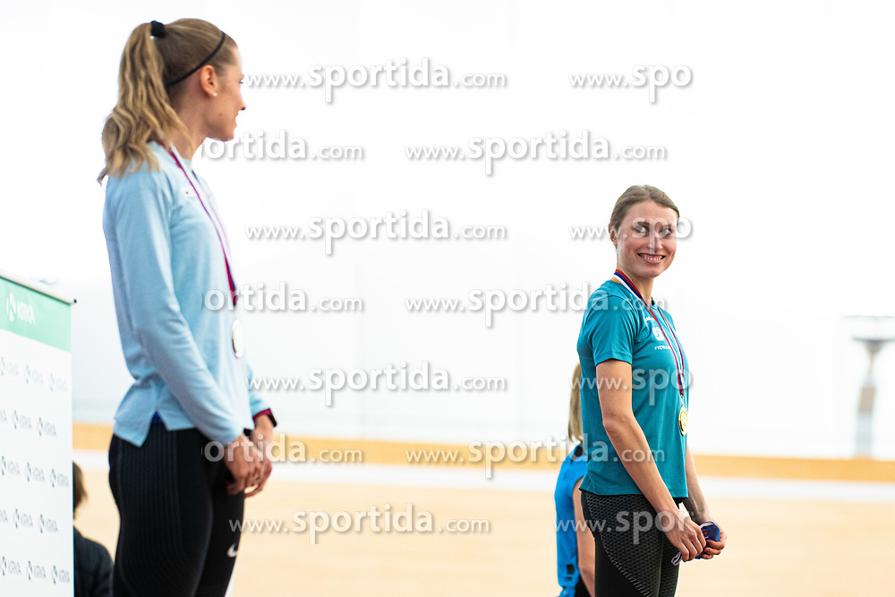Marusa Mismas during medal ceremony Slovenian Indoor Championship, Olympic centre Novo Mesto, 14 February 2021, Novo Mesto, Slovenia. Photo by Grega Valancic / Sportida