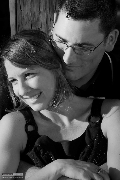 Jena Montante & Kirk Gray, photographed in the Anne Arundel neighborhood where her parents live, on August 9, 2008.