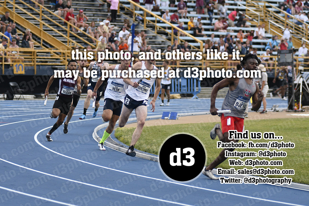 2021 NCAA Division III Outdoor Track and Field Championships 2021 NCAA OTF - Event 24 - Men 4x400