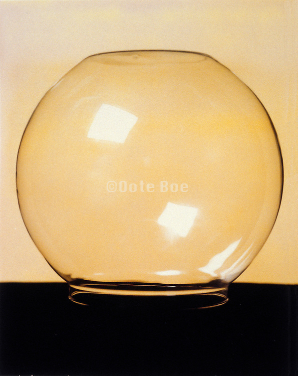 Still life of a glass bowl
