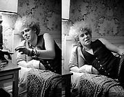 Photo of U2 Adam Clayton at Hotel in Atlanta - USA tour photosessions December 1981