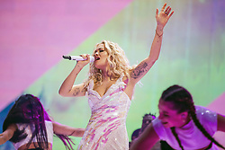 May 28, 2019 - London, United Kingdom of Great Britain and Northern Ireland - Rita Ora performing at the O2 Arena on May 23 2019 in London  (Credit Image: © Famous/Ace Pictures via ZUMA Press)