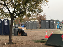 Tent cities have started to appear in Chico CA as a result of the camp fire, Nearly 10,000 homes have been destroyed in the deadly Camp fire which destroyed the California town of Paradise, so far the fire has claimed 76 lives with over 1000 people still missing,. 18 Nov 2018 Pictured: tent city Chico. Photo credit: MEGA TheMegaAgency.com +1 888 505 6342