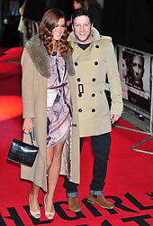 © Licensed to London News Pictures. 12/12/2011. London, England. Sarah Robinson; Matt Cardle attends the world premiere of The Girl With The Dragon Tattoothe first film in the three-picture adaptation of Stieg Larsson's literary blockbuster The Millennium Trilogy.  Directed by David Fincher and starring Daniel Craig and Rooney Mara  in Liecester Square London .  Photo credit : ALAN ROXBOROUGH/LNP