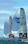 Team New Zealand trail behind Alinghi in the last race of the America's Cup 2003. 2/3/2003 (© Chris Cameron 2003)