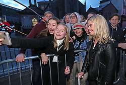 Saoirse-Monica Jackson meets fans as she arrives at the Omniplex Cinema in Londonderry for the Derry Girls premiere ahead of the broadcast of the second series on Channel 4.