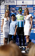 UK, September 17 2010: Team Sky's Greg Henderson on the podium in Colchester after receiving the Points Leader's jersey at the finish of Stage 7, Bury St Edmonds to Colchester, of the 2010 Tour of Britain Cycle Race. Copyright 2010 Peter Horrell