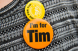 Islington Assembly Hall, London, July 16th 2015. The Liberal Democrats announce their new leader Tim Farron MP who was elected by party members in a vota gainst Norman Lamb MP.