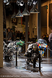 Hall 10 dedicated to Custom at the Intermot Motorcycle Trade Fair. Cologne, Germany. Friday October 7, 2016. Photography ©2016 Michael Lichter.