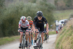 Elisa Longo Borghini pushes the pace on the penultimate chalk sector at Strade Bianche - Elite Women. A 127 km road race on March 4th 2017, starting and finishing in Siena, Italy. (Photo by Sean Robinson/Velofocus)