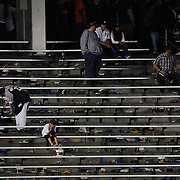 A dejected young Yankee fan in the bleachers reacts to his sides loss during the New York Yankees Vs Houston Astros, Wildcard game at Yankee Stadium, The Bronx, New York. 6th October 2015 Photo Tim Clayton for The Players Tribune
