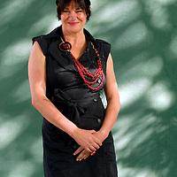 EDINBURGH, UK - 18th August 2010: Author portrait session coverage of The Edinburgh International Book Festival 2010 at Charlotte Square in Edinburgh...Picture shows English author and comedienne Louise Rennison...(Photograph: Richard Scott/MAVERICK)