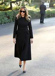 First Lady Melania Trump, departs the White House for Joint Base Andrews, en route to Las Vegas, Nevada Oct. 4, 2017. The President and the First Lady will visit with civilian heroes and first responders from the deadliest mass shooting in U.S. history. Photo by Olivier Douliery/ Abaca Press