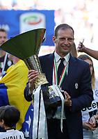 Massimiliano Allegri<br /> Esultanza Juventus Campione d'Italia . Celebration Juventus Italian championship winner <br /> Torino 21-05-2017 Juventus Stadium Football Calcio Serie A 2016/2017 Juventus - Crotone .<br /> Foto Insidefoto