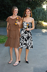 Left to right, SARAH WHEELER and RACHEL JOHNSTONE at the Concervative Party Summer Party held in the gardnes of The Royal Hospital, Chelsea, London on 3rd July 2006.<br />