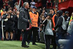 11th May 2017 - UEFA Europa League - Semi Final (2nd Leg) - Manchester United v Celta Vigo - Man Utd manager Jose Mourinho celebrates victory - Photo: Simon Stacpoole / Offside.