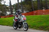 29-09-2013 Santander<br /> IV Gran Carrera Motos Clasicas en el Palacio de la Magdalena<br /> Igncio Nebreda Ricerejo  con la moto Ossa 250<br /> Fotos: Juan Manuel Serrano Arce