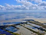 Nederland, Friesland, Vlieland, 07-05-2021; West-Vlieland met Kroon's Polders. De voormalige polders zijn nu natuurgebied en in beheer bij Staatsbosbeheer. Vogelbroedgebied, brak water milieu. Zicht op de Waddenzee.<br /> West Vlieland with Kroon's Polders. The former polders are now a nature reserve and managed by the Forestry Commission. Bird nesting area, brackish water environment.<br /> <br /> luchtfoto (toeslag op standard tarieven);<br /> aerial photo (additional fee required)<br /> copyright © 2021 foto/photo Siebe Swart