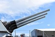 USS Iowa Battleship Forward Guns