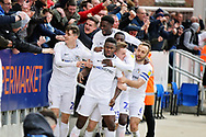 *** Caption Correction*** Coventry City forward Bright Enobakhare (24) celebrates Coventry's second goal 0-2 during the EFL Sky Bet League 1 match between Peterborough United and Coventry City at London Road, Peterborough, England on 16 March 2019.