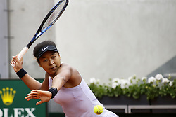 May 30, 2019 - Paris, France - Japan's Naomi Osaka plays against Belarus' Victoria Azarenka during their women's singles second round match on day five of The Roland Garros 2019 French Open tennis tournament in Paris on May 30, 2019. (Credit Image: © Ibrahim Ezzat/NurPhoto via ZUMA Press)