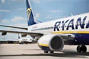 Duitsland, Weeze, 24-8-2020 Vlak over de grens ligt het regionaal vliegveld , Weeze airport, wat een belangrijke regionale luchthaven is voor reizigers uit zuid en oost Nederland, en als thuisbasis fungeert voor enkele Ryanair toestellen. Door de coronacrisis wordt er veel minder gevlogen en is het rustig in de stationshal .. Foto: ANP/ Hollandse Hoogte/ Flip Franssen