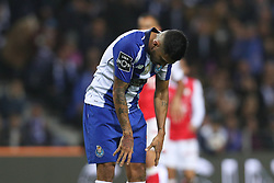 November 10, 2018 - Porto, Porto, Portugal - Porto's Mexican forward Jesus Corona reacts during the Premier League 2018/19 match between FC Porto and SC Braga, at Dragao Stadium in Porto on November 9, 2018. (Credit Image: © Dpi/NurPhoto via ZUMA Press)