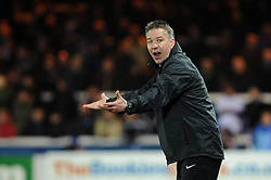 Peterborough United Manager, Darren Ferguson shouts at his players out on the pitch - Photo mandatory by-line: Dougie Allward/JMP - Mobile: 07966 386802 11/03/2014 - SPORT - FOOTBALL - Peterborough - London Road Stadium - Peterborough United v Bristol City - Sky Bet League One