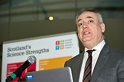 Pictured: Science Minister Richard Lochhead<br /> <br /> Science Minister Richard Lochhead, Scottish Science Advisory Council Chair Professor Paul Boyle and Scotland's Chief Scientific Adviser Professor Sheila Rowan spoke at the official launch of a major new report on Scottish science.  The report examines the scientific landscape in Scotland between 2007 and 2016 and compared how the Scottish science and research sector has performed against other similar sized countries.  A number of scientific research projects from research institutions across Scotland will also exhibited at the event.<br /> <br /> <br /> Ger Harley | EEm 23 January 2019