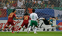 Photo: Glyn Thomas.<br />Portugal v Mexico. FIFA World Cup 2006. 21/06/2006.<br /> Maniche (second from L) gives Portugal a 1-0 lead.