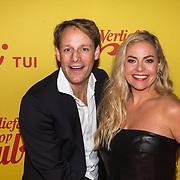 NLD/Hilversum/20190211- Verliefd op Cuba premiere, Maaike Martens en partner Bram
