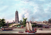 The Pagoda, Whampoa. Whampoa is to south of Canton. Treaty of Whampoa between France and China, one of the treaties forced on China at end of First Opium war (1839-42) conceding Treaty Ports to European powers. Canton was one of these ports.