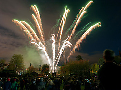 © Licensed to London News Pictures. 04/11/2014. Bristol, UK.  Fireworks at Bristol Zoo.  The Fireworks were special quiet fireworks without loud bangs so as not to disturb the animals. Photo credit : Simon Chapman/LNP