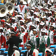 Members of the BCC band dance during the Florida Classic NCAA football game between the FAMU Rattlers and the Bethune Cookman Wildcats at the Florida Citrus bowl on Saturday, November 22, 2014 in Orlando, Florida. (AP Photo/Alex Menendez)