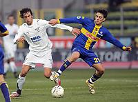 """Stefano Mauri (Lazio), Luca Cigarini (Parma)<br /> Italian """"Serie A"""" 2006-07 <br /> 23 Dic 2006 (Match Day 18)<br /> Parma-Lazio (1-3)<br /> """"Ennio Tardini"""" Stadium-Parma-Italy<br /> Photographer Luca Pagliaricci INSIDE"""