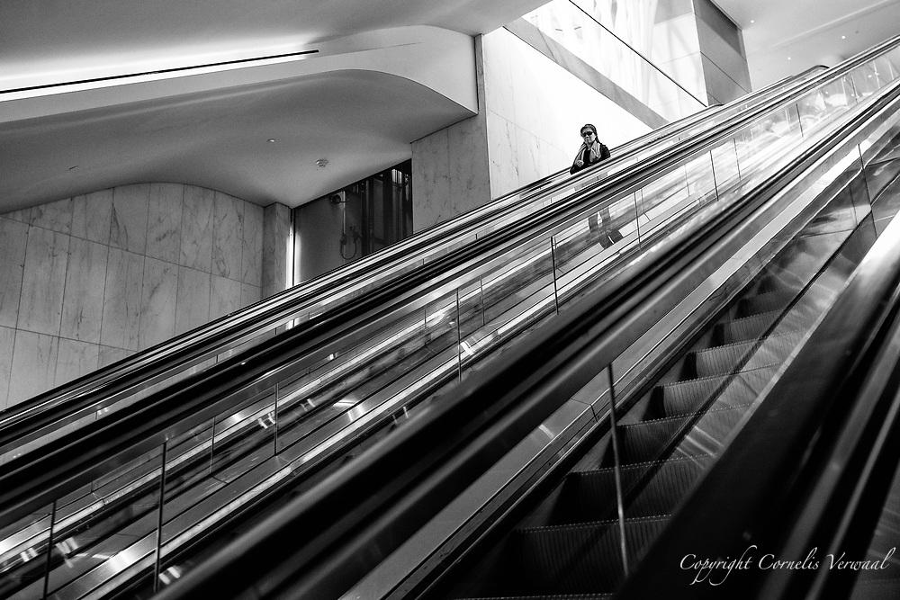 Escalators from the Calatrava building up to Brookfield Place (Winter Garden)