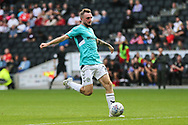 Forest Green Rovers Carl Winchester(7) shoots at goal during the EFL Sky Bet League 2 match between Milton Keynes Dons and Forest Green Rovers at stadium:mk, Milton Keynes, England on 15 September 2018.