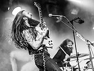 "Christoph ""Lupus"" Lindemann of German hard-rock band Kadavar at Haldern Pop Festival"