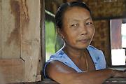 Myanmar, portrait of an indigenous woman
