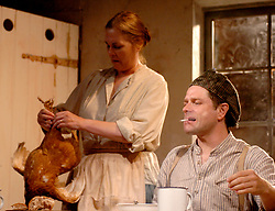 HARVEST <br /> Royal Court Theatre<br /> Press photocall September 14th, 2005 <br /> <br /> l to r <br /> Sharon Bower<br /> Matthew Dunster