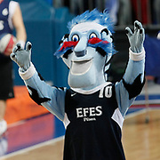 Efes Pilsen's CAYLAK during their Turkish Airlines Euroleague Basketball Top 16 Group G Game 4 match Efes Pilsen between Real Madrid at Sinan Erdem Arena in Istanbul, Turkey, Thursday, February 17, 2011. Photo by TURKPIX