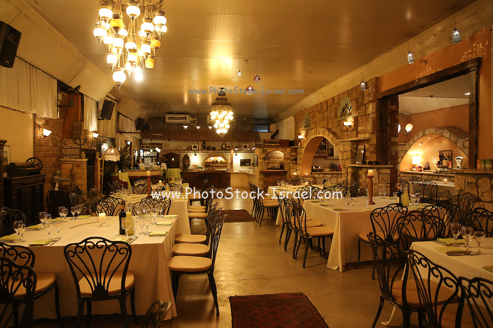 Atmospheric lit restaurant interior