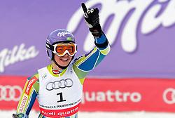 SKI ALPIN: WM 2011, Riesenslalom, Damen, Garmisch-Partenkirchen, 17.02.2011<br /> Jubel von Siegerein Tina MAZE (SLO)<br /> Photo by Pixathlon / Sportida Photo Agency