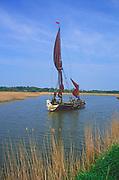 AREJR2 Sailing barge Cygnet River Alde Snape Suffolk England