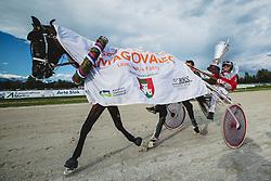Zan Milan winner of prestige 25th Slovenian derby during harness racing competition Kasaski derby 2015 at hippodrome Stozice on 8. September 2015 in , Ljubljana, Slovenia. Photo by Grega Valancic / Sportida