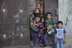 October 23, 2016 - Beit Lahiya, The Gaza Strip, Palestine - Palestinian kids from Beit Lahiya city northern the Gaza Strip. (Credit Image: © Mosa Ghaben/Quds Net News via ZUMA Wire)