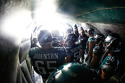 Philadelphia Eagles in the entry tunnel before being introduced for the NFL game between the Tennessee Titans and the Philadelphia Eagles at Lincoln Financial Field in Philadelphia, Pennsylvania on Sunday November 16th 2014. The Eagles won 43-24. (Brian Garfinkel/Philadelphia Eagles)