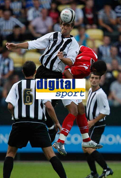 Photo: Steve Bond/Richard Lane Photography. Nottingham County v Nottigham Forest. Pre season Friendly. 25/07/2009. Graeme Lee gets highest