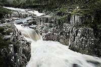 The River Etive, Glen Etive in the Highlands of Scotland